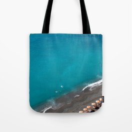 Positano Beach Umbrellas Tote Bag
