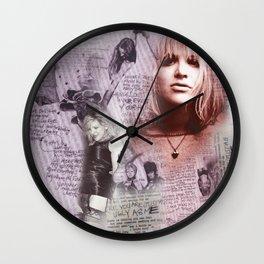 Courtney Zine Style Art Wall Clock