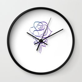 Beautiful rose as a flower Love Love Wall Clock