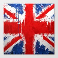 british flag Canvas Prints featuring BRITISH FLAG by Sophie