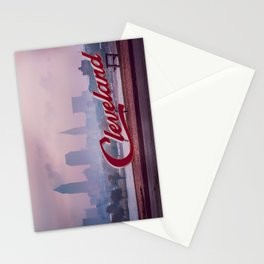 Homesick - Cleveland Skyline Stationery Cards