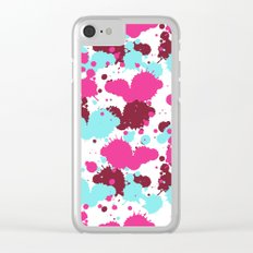 Pop Art Paint Shine Clear iPhone Case