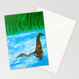 Nessie Swimming In Loch Ness Stationery Cards