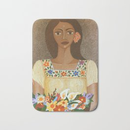 More than flowers she sells illusions Bath Mat