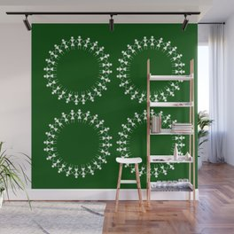 08WA011 Warli Art / Art by Amiee / Painting / Sweet Home / Artist Amiee Wall Mural