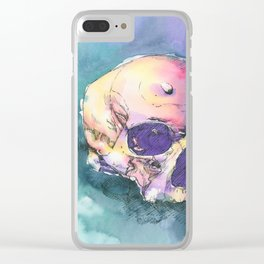 Colorful Skull 6 Clear iPhone Case