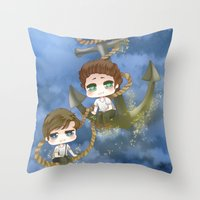 larry stylinson Throw Pillows featuring Larry Stylinson - Anchor and rope by Yorlenisama