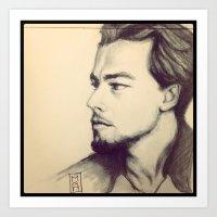 leonardo dicaprio Art Prints featuring Leonardo DiCaprio by MuseDesignLab
