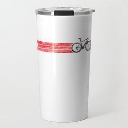 Cyclist Flag Switzerland Swiss CH Bike Racing Black Travel Mug