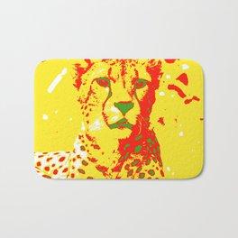 Pop Art Cheetah Bath Mat