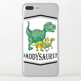 Dad Dinosaur Daddyasaur T-Rex Fathers Day Gift Clear iPhone Case