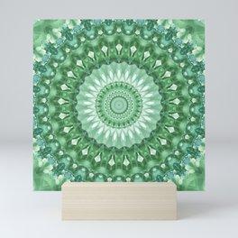 Emerald Green Mandala Mini Art Print