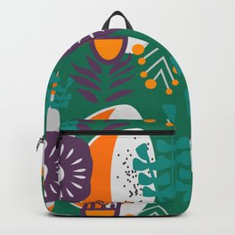 Purple, green, orange botany Backpack