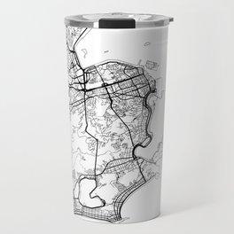Rio de Janeiro Map White Travel Mug