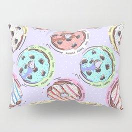 Donut Love Pattern Pillow Sham