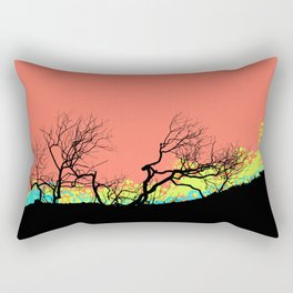 Living Coral Trees silhouette Rectangular Pillow
