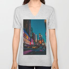 City Lights NYC (Color) Unisex V-Neck
