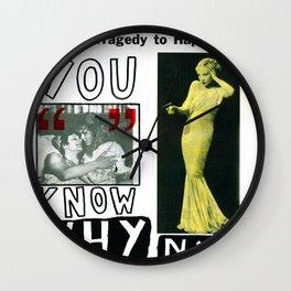 You Know Why NY Wall Clock