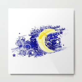 Moon painted Metal Print