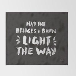 Burned Bridges – Black & White Throw Blanket