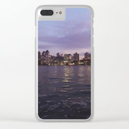 Between Two Iconic New York Bridges Clear iPhone Case