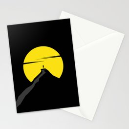 the moon the mountain Stationery Cards