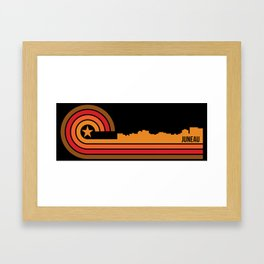Retro Juneau Alaska Skyline Framed Art Print