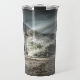 Glenfinnen Monument, Western Highlands, Scotland - Landscape Travel Mug