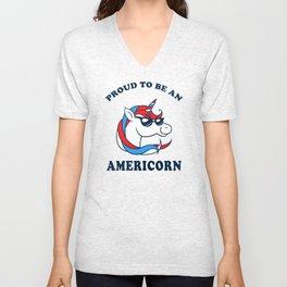 Proud To Be An Americorn Unisex V-Neck