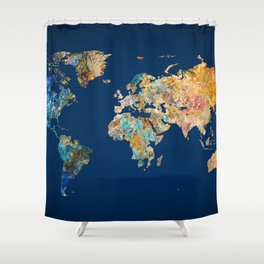 World Map 11 Shower Curtain