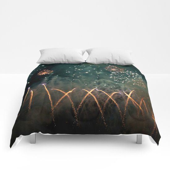 Fireworks Face Comforters