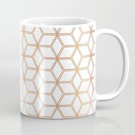 Geometric Hive Mind Pattern - Rose Gold #113 Coffee Mug