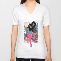80s V-neck T-shirts featuring 80s by Allen Holt