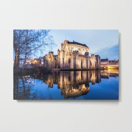 Gravensteen from Ghent Metal Print