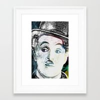 chaplin Framed Art Prints featuring Chaplin by Marian - Claudiu Bortan
