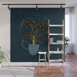 Space Plants in Tandem Wall Mural