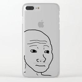 Wojak / That feel guy Clear iPhone Case
