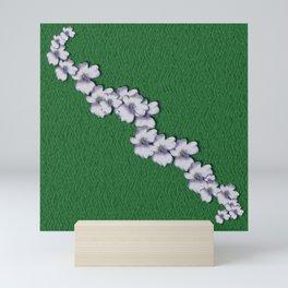 Cherry-blossoms Branch Decorative On A Field Of Fern Mini Art Print