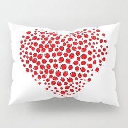 Ladybug heart Pillow Sham