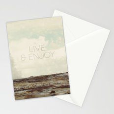 Live and Enjoy Stationery Cards