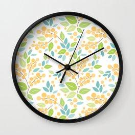Paper Berries & Leaves Wall Clock