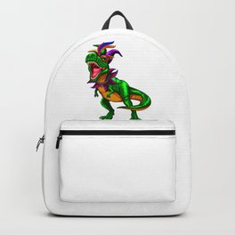 Dinosaur T Rex Mardi Gras Backpack