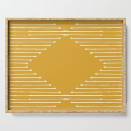 Geo / Yellow Serving Tray