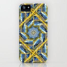 golden day kaleidoscope pattern iPhone Case