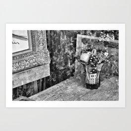 dice reflection Art Print