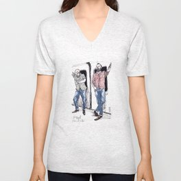 Urban Lumberjacks by Kat Mills Unisex V-Neck