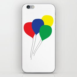 Primary Colour Balloons iPhone Skin