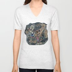 mind-face Unisex V-Neck