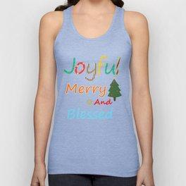 Joyful Merry and Blessed Christmas Shirt Unisex Tank Top
