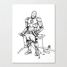 Iron(ing) Man Canvas Print